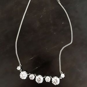 Betsey Johnson silver necklace